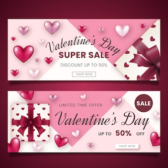 Valentinstag begrenzte angebot banner