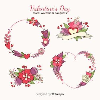 Valentinstag blumen packen