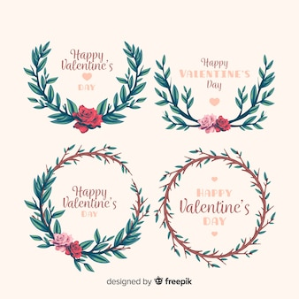 Valentinstag blumenkränze