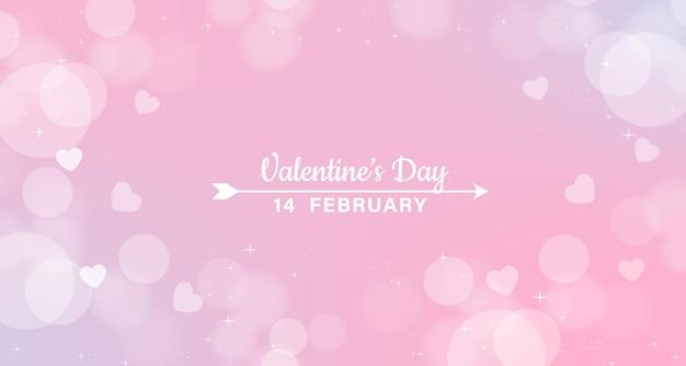 Valentinstag bokeh hintergrund.