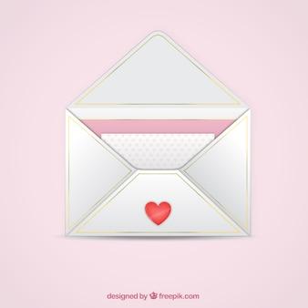 Valentinstag brief im umschlag