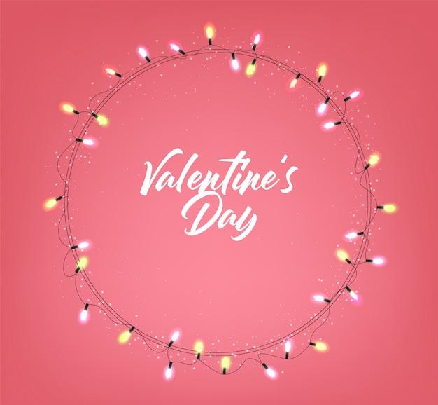 Valentinstag dekoration, liebe, lichter