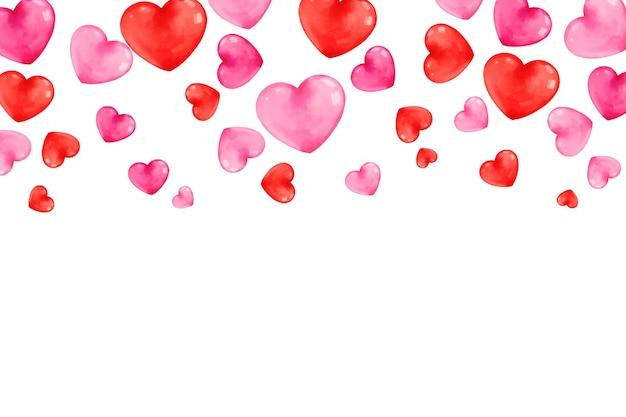 Valentinstag des schwebenden herzens des aquarells