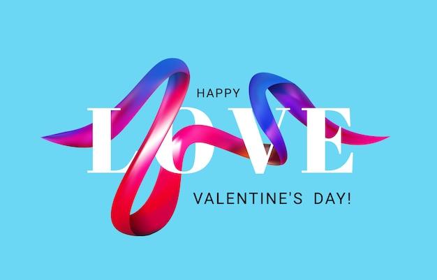 Valentinstag einer bunten pinselstrichöl- oder acrylfarbengrußkarte