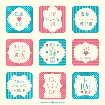 Valentinstag einklebebuchaufkleber