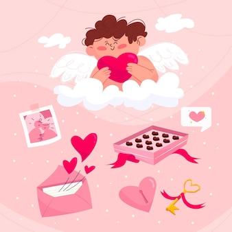 Valentinstag element gesetzt