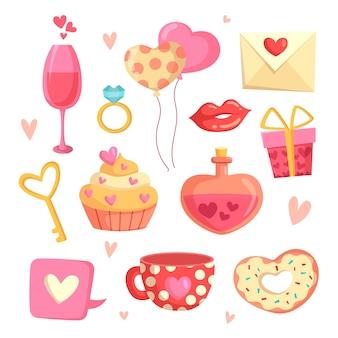 Valentinstag element sammlung