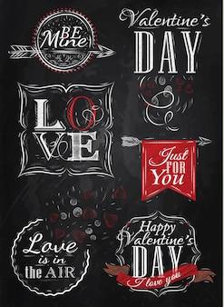 Valentinstag Elemente rot