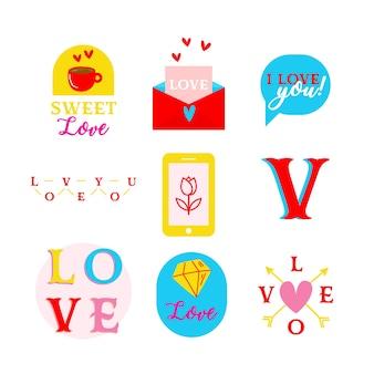 Valentinstag elemente sammlung