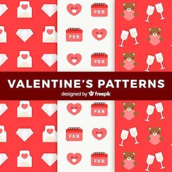Valentinstag-elementmuster