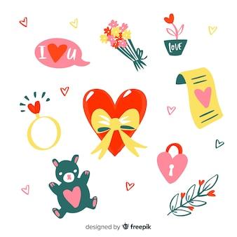 Valentinstag-elementsammlung