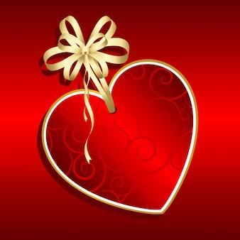 Valentinstag-etikett