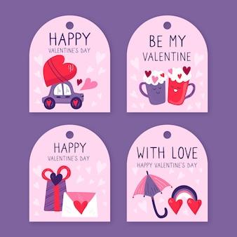 Valentinstag etikett Kostenlosen Vektoren