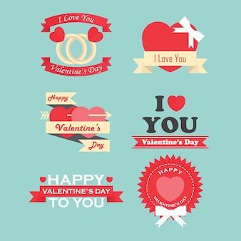 Valentinstag-etiketten