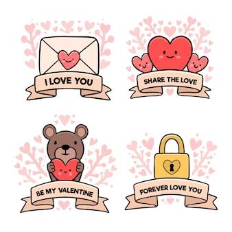 Valentinstag etikettenvorlage