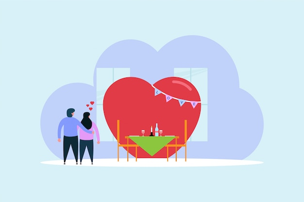 Valentinstag-feier