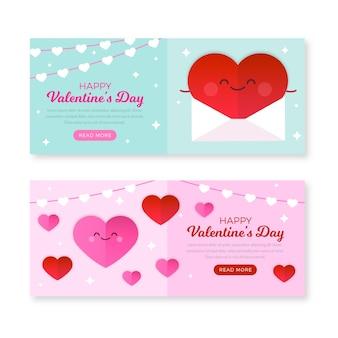 Valentinstag flaches design banner