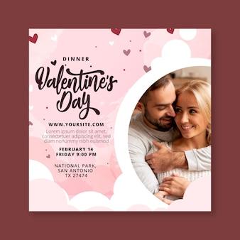Valentinstag flyer vorlage