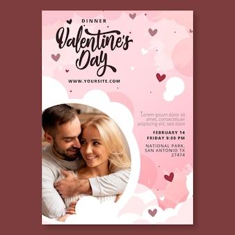 Valentinstag flyer vorlage Kostenlosen Vektoren