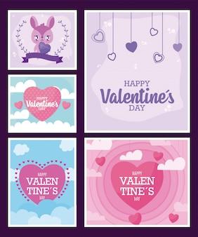 Valentinstag frames karten
