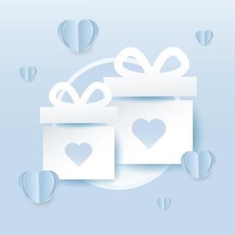 Valentinstag geschenk-box-symbol
