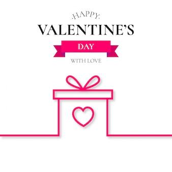 Valentinstag geschenk linie hintergrund