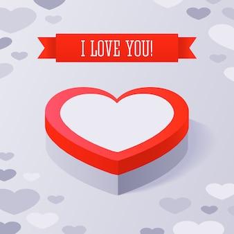 Valentinstag-geschenkbox