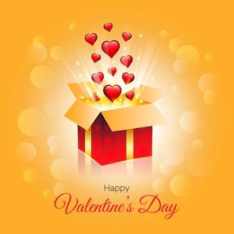 Valentinstag glänzendem hintergrund