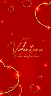 Valentinstag goldene herzen mobil