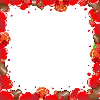 Valentinstag grenzen mit gradient mesh illustration