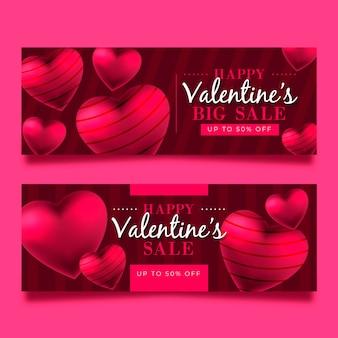 Valentinstag großer abverkauf mit gestreiften herzen