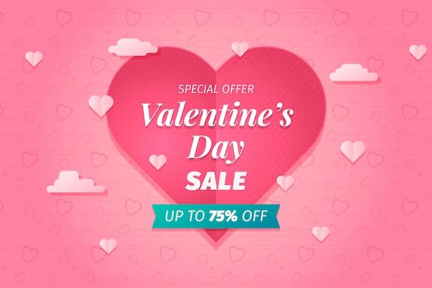 Valentinstag großer verkaufshintergrund