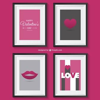 Valentinstag-grüße mit frames