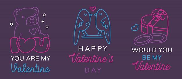 Valentinstag gruß abzeichen