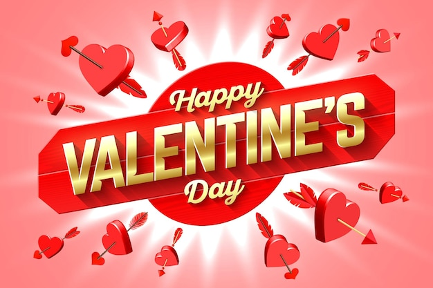 Valentinstag gruß banner