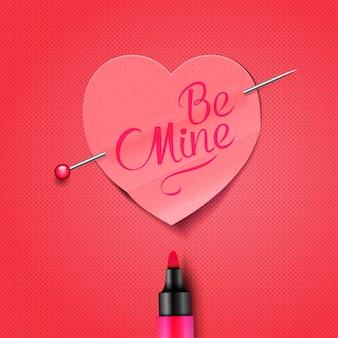 Valentinstag grußkarte mit der nachricht