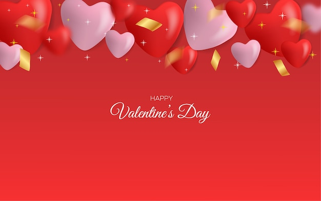 Valentinstag grußkarte. mit einer liebesballon 3d illustration
