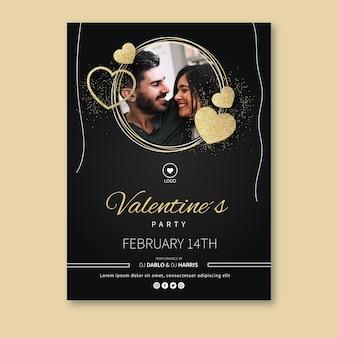 Valentinstag grußkarte mit foto