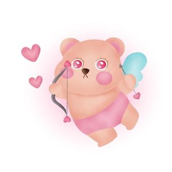 Valentinstag grußkarte mit niedlichen amor.