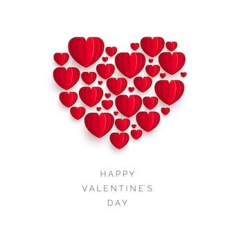 Valentinstag grußkarte oder einladung abdeckung