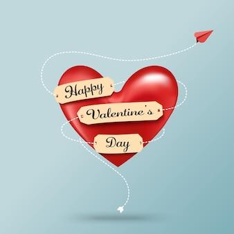 Valentinstag-grußkarte und liebeskonzept