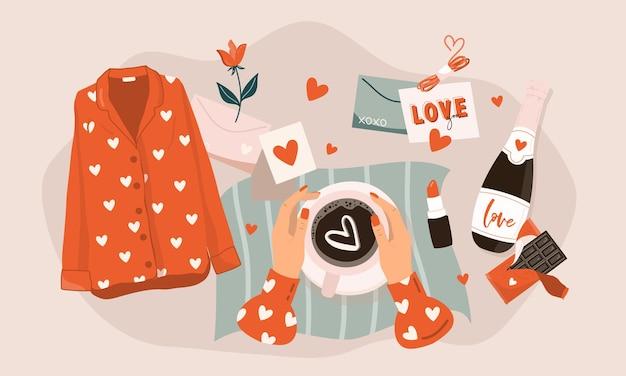Valentinstag grußkarte.