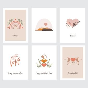 Valentinstag grußkartenset
