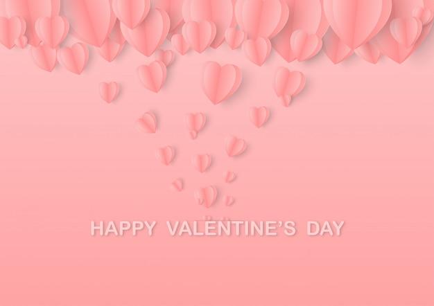 Valentinstag herzen postkarte.