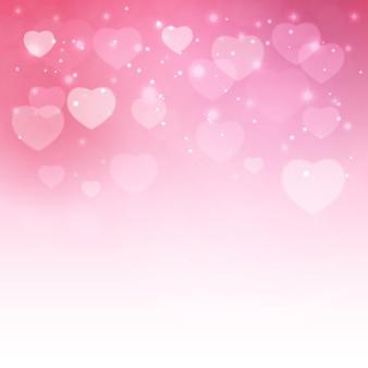 Valentinstag herzsymbol. liebe und gefühle hintergrunddesign.