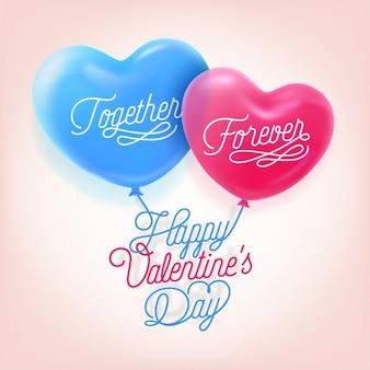 Valentinstag hintergrund design