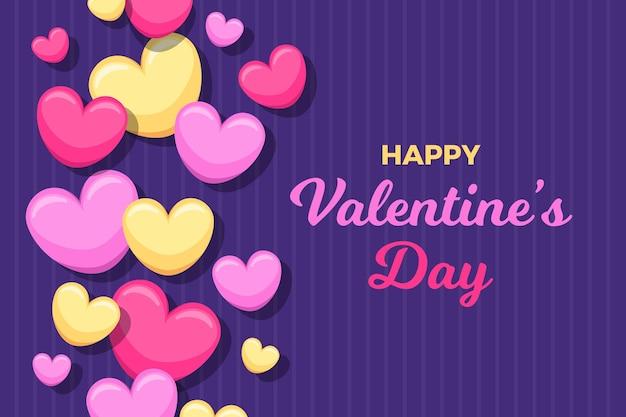 Valentinstag hintergrund im flachen design