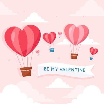 Valentinstag hintergrund konzept