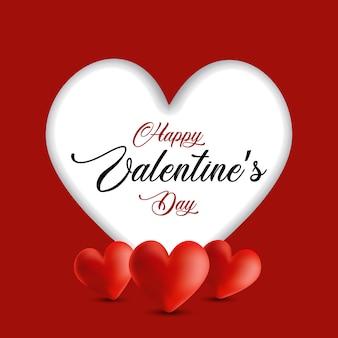 Valentinstag hintergrund mit ausschnitt herzen