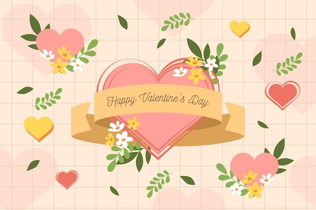 Valentinstag hintergrund mit blumen
